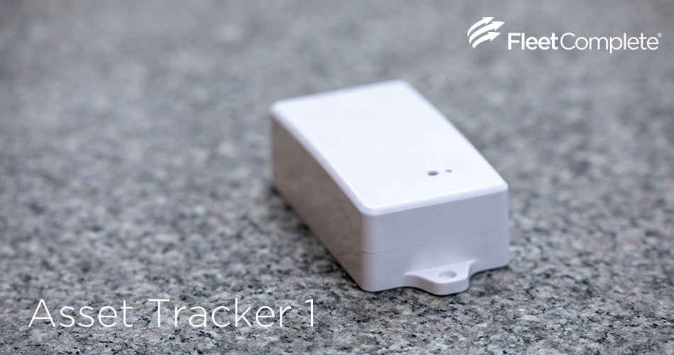 Asset Tracker 1 on a marble surface.