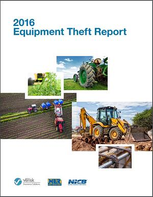 2016 equipment theft report