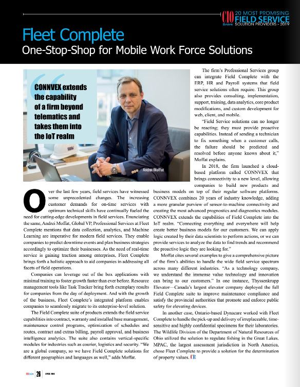 Andrei Moffat featured in CIO Review.