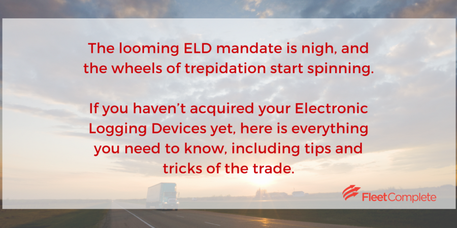 ELD and HoS advice about FMCSA's looming ELD mandate.