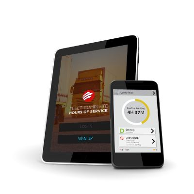 FMCSA compliant HoS app on mobile and ELD on mobile smartphone or tablet.