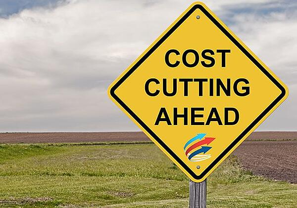 Caution Sign - Cost Cutting Ahead - Fleet Telematics by Fleet Complete.