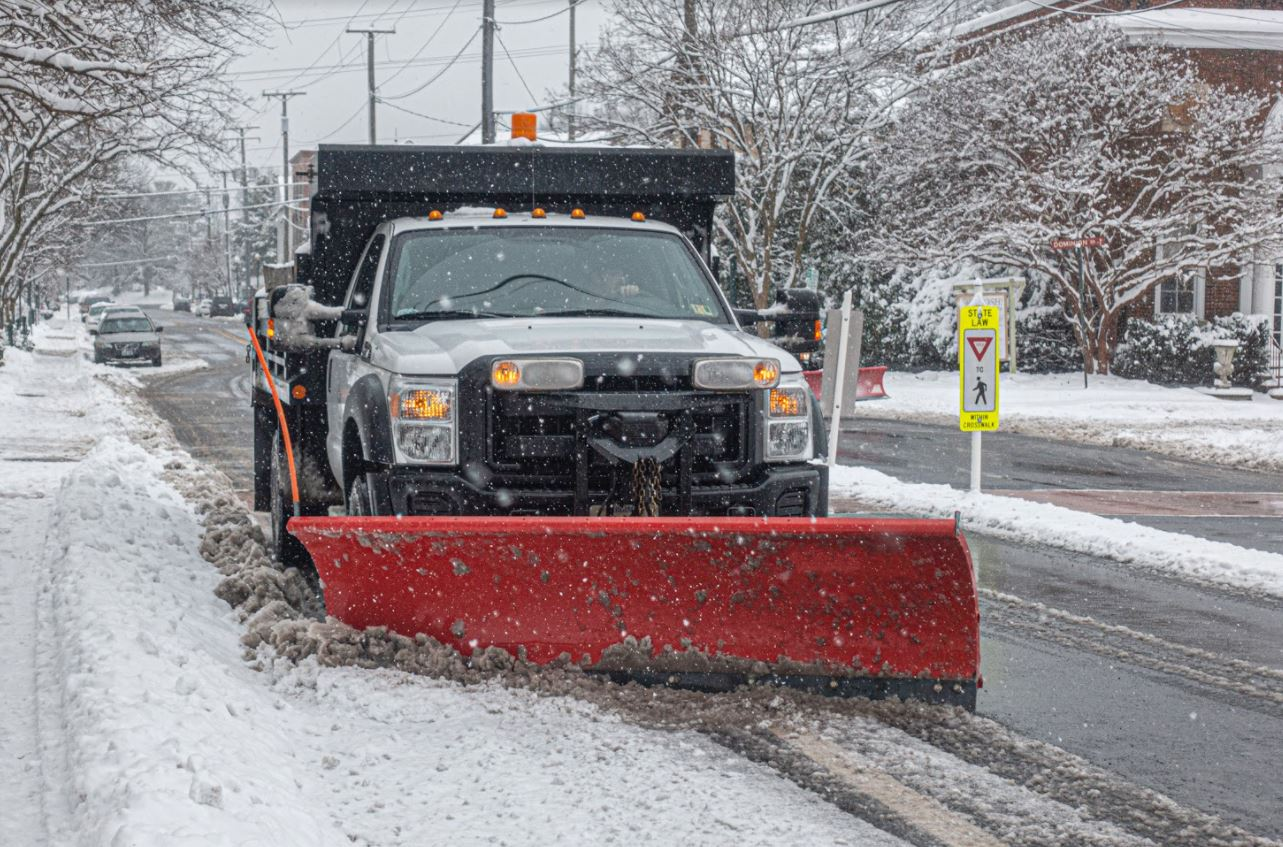 Snow removal vehicle.
