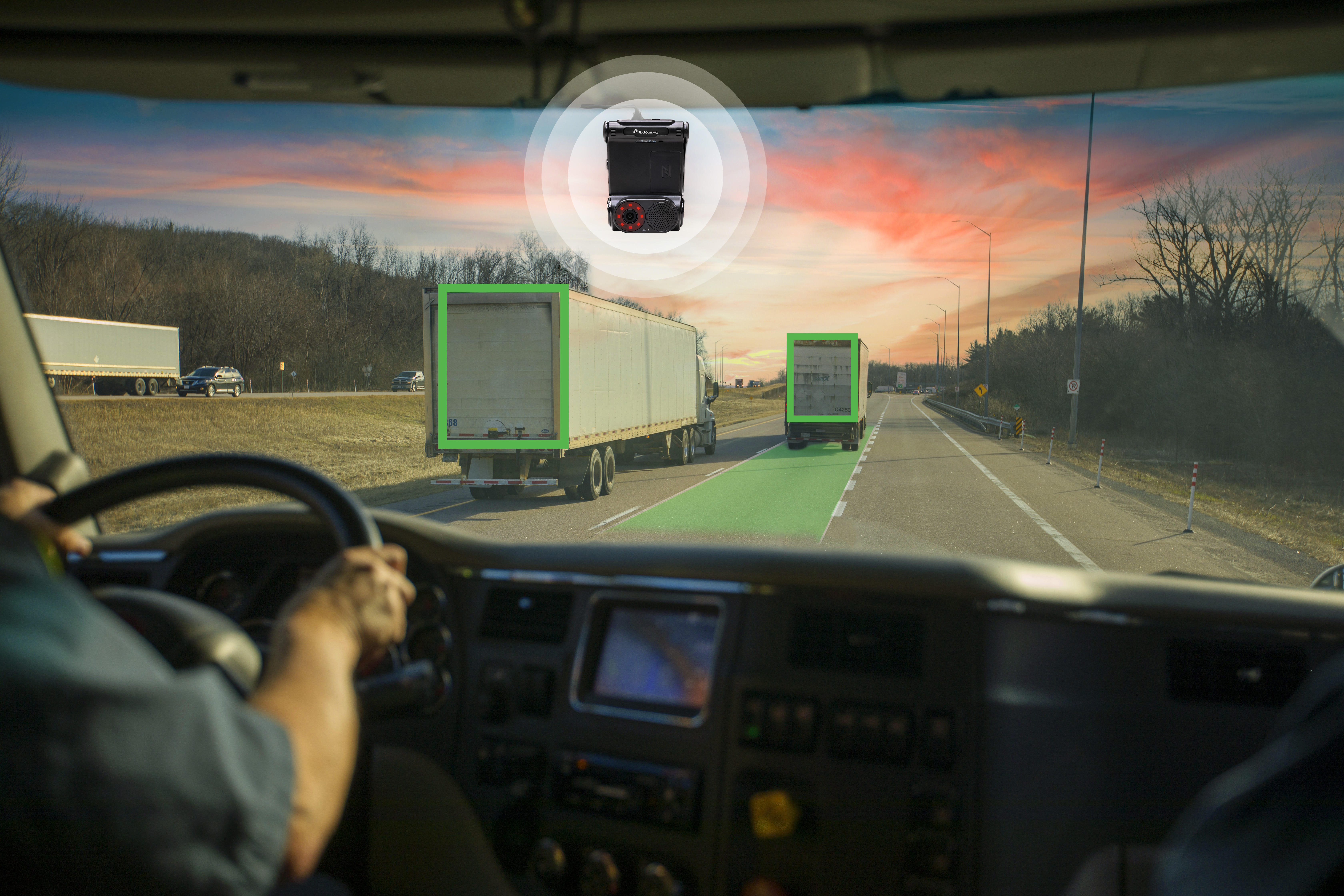 Vision 2.0 dash cam solution in a truck.