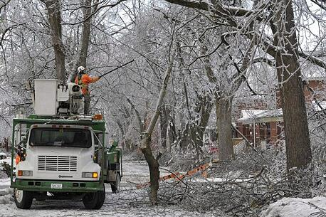 Ice storm hyrdo crews.