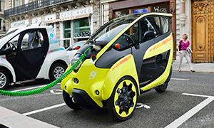 Toyota's i-Road electric vehicle.