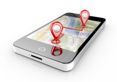 Pindrop on a phone map symbolic of Truck GPS for telematics software.